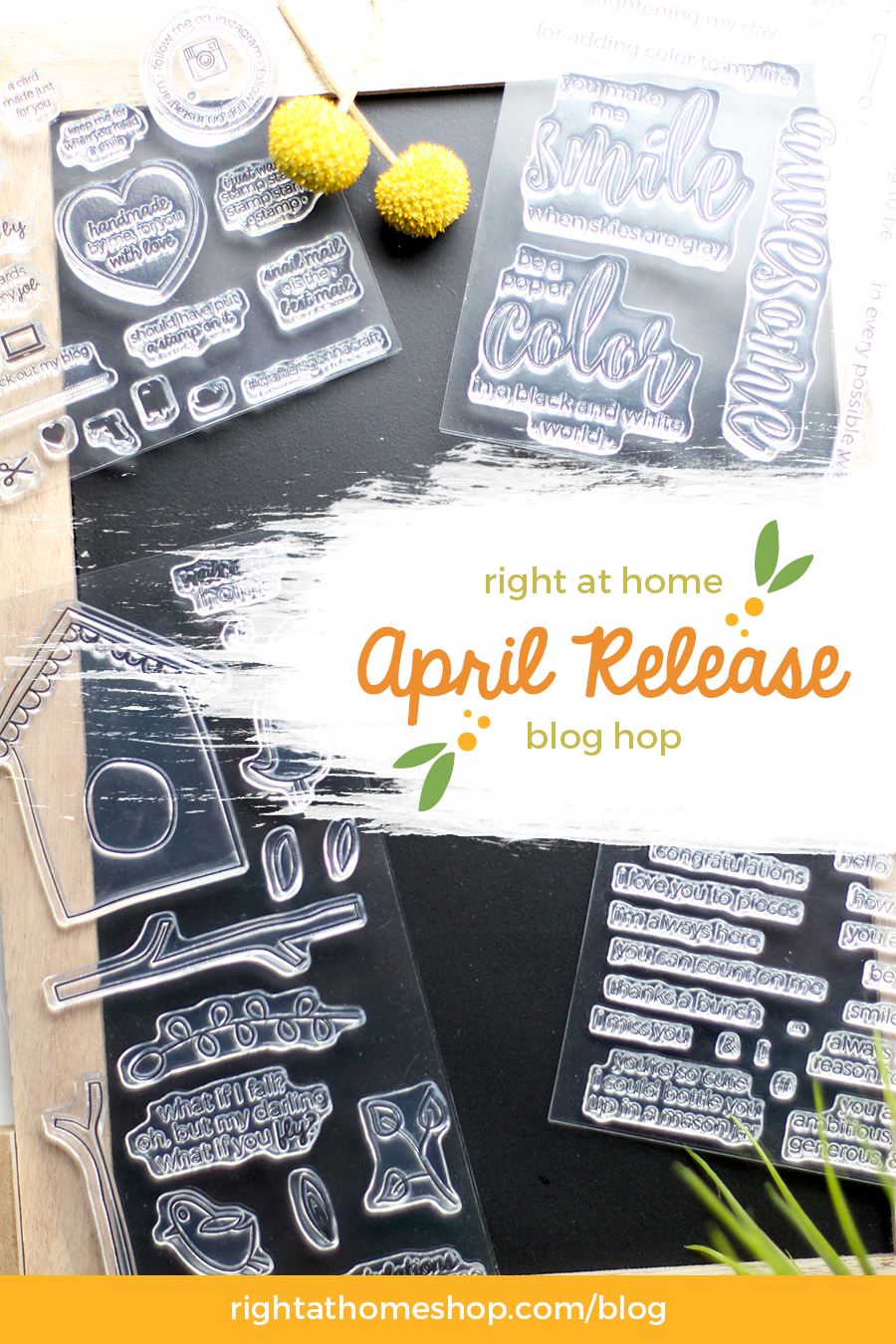 Right at Home Stamps April Release Blog Hop - rightathomeshop.com/blog