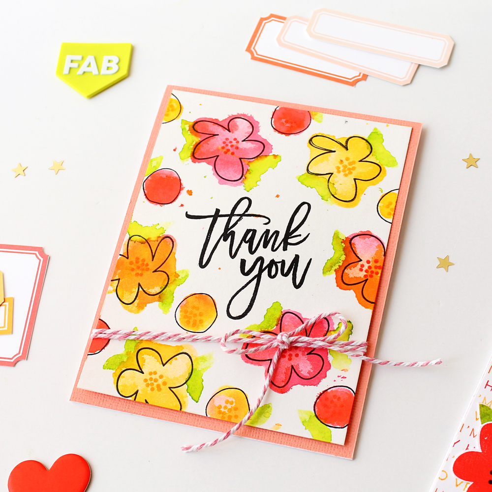 DIY Bright + Colorful Backgrounds by Carson // Right at Home Stamps March Release - rightathomeshop.com/blog