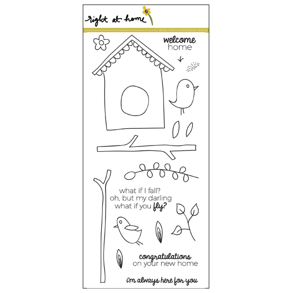 Right at Home Stamps April Release Now Available // Birdhouse (4 in x 8 in) - rightathomeshop.com/blog