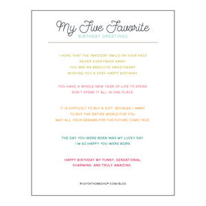 My 5 Favorite Greetings For Inside A Birthday Card Printable Rightathomeshop
