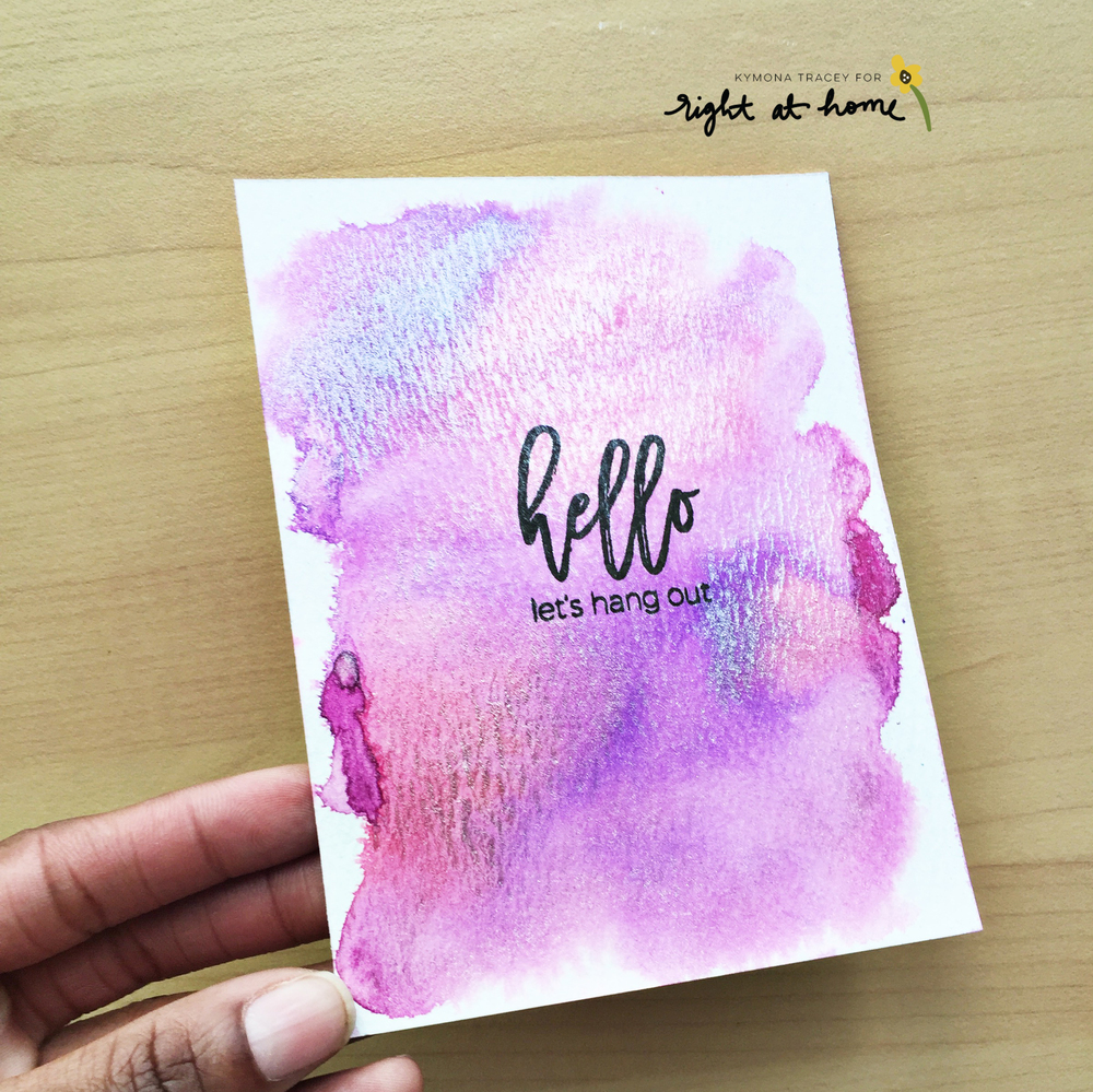 Right at Home Stamps Mix & Match Week // Day #3 with Kymona - Script Greetings & Tiny Sentiments - rightathomeshop.com/blog