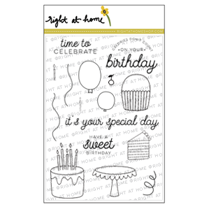 May Stamped & Sealed Craft Box Now Available // Let's Party - Sweet Birthday Exclusive Stamp Set - rightathomeshop.com