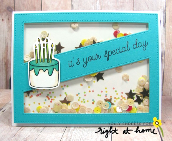It's Your Special Day Card by Holly // May Stamped & Sealed Craft Box - rightathomeshop.com/blog