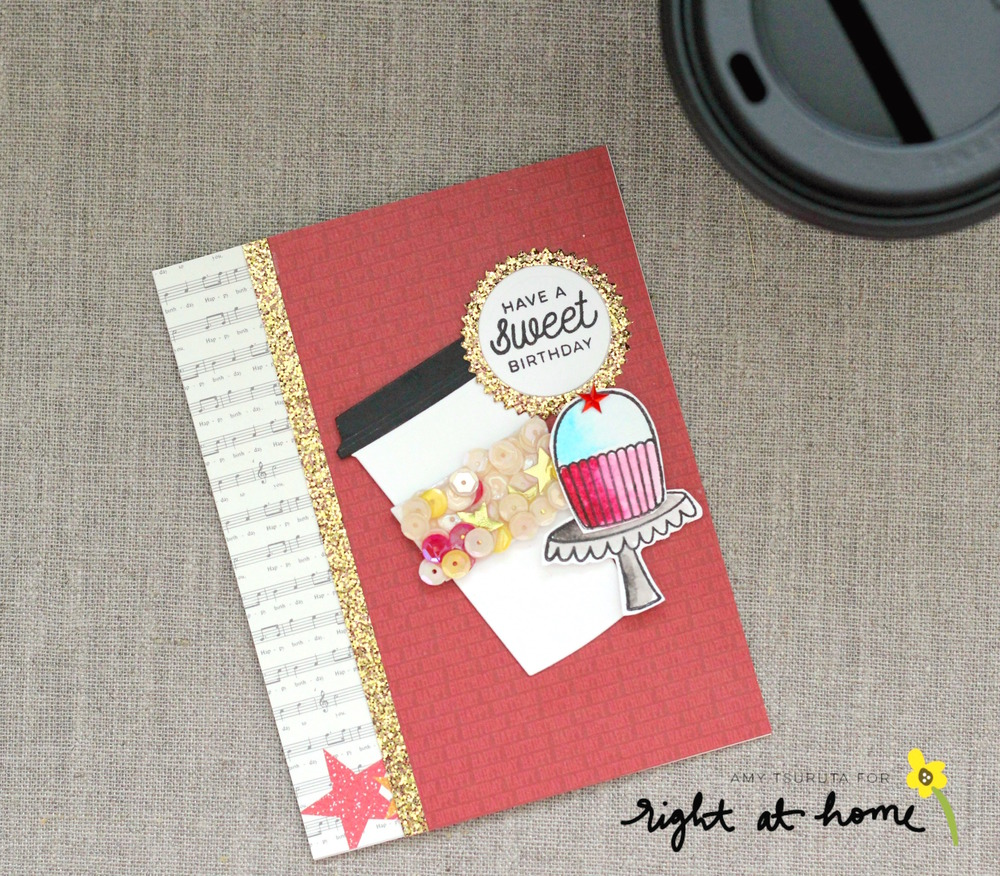 Have a Sweet Birthday Card by Amy T. // May Stamped & Sealed Craft Box - rightathomeshop.com/blog