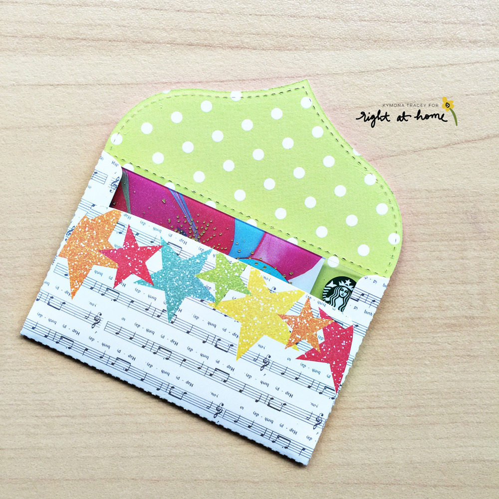 DIY Gift Card Envelopes by Kymona // May Stamped & Sealed Craft Box - rightathomeshop.com/blog