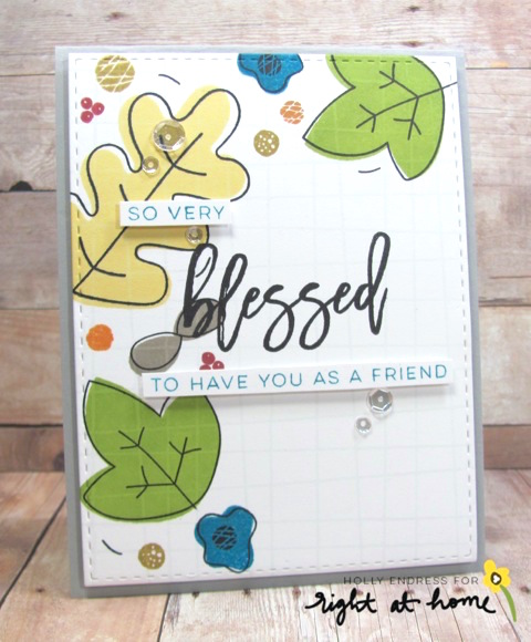 So Very Blessed Card by Holly - rightathomeshop.com/blog