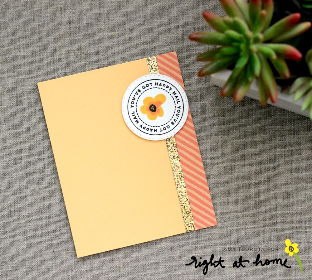 Quick + Easy Notecard by Amy T. using Happy Mail // rightathomeshop.com/blog