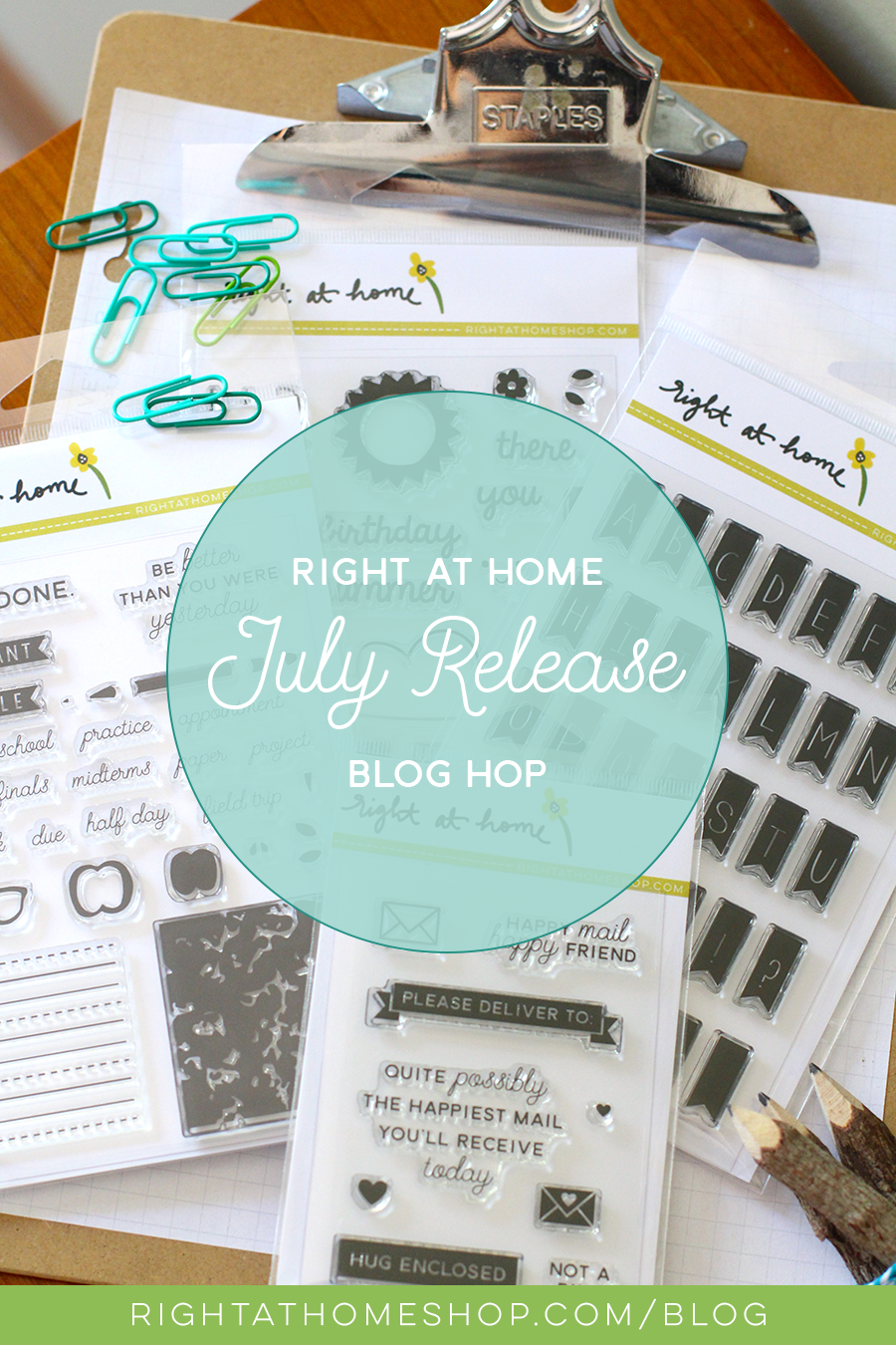 Right at Home Stamps July Release Blog Hop - rightathomeshop.com/blog