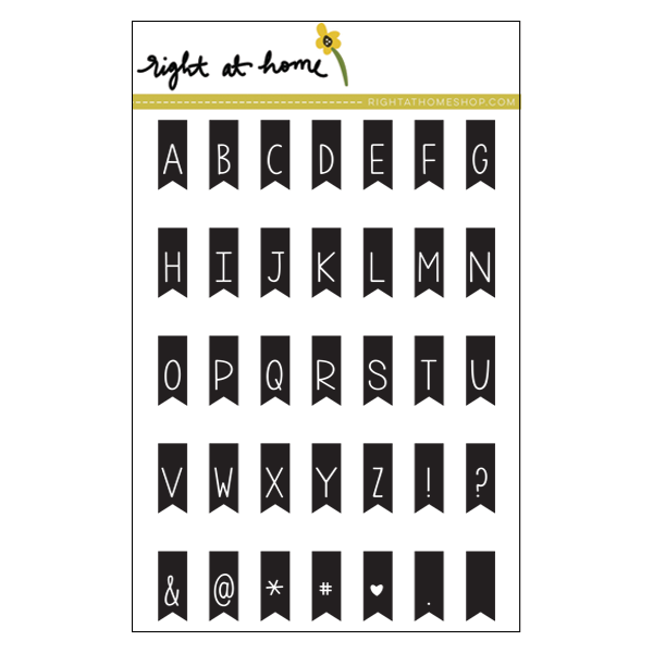 Right at Home Stamps // Banner Alphabet
