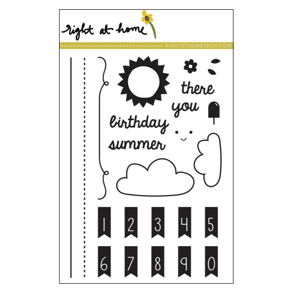 Right at Home Stamps // Banner Alphabet Add-On