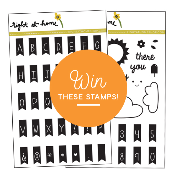 Right at Home Stamps July Release Blog Hop // Win these stamps!