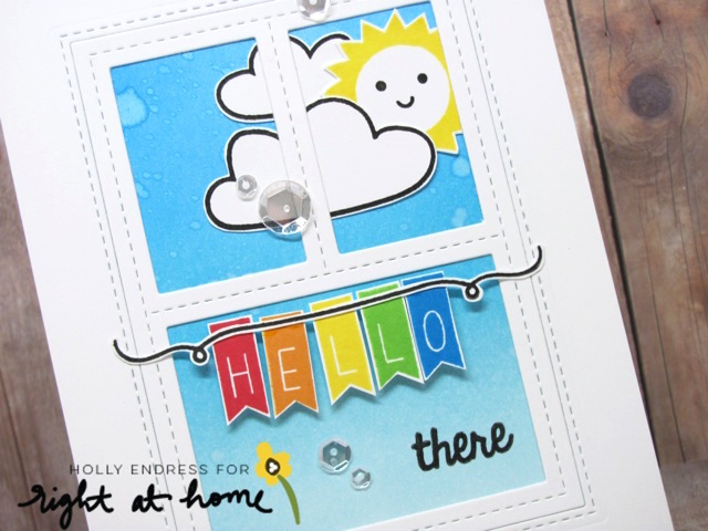 Hello There Banner Card by Holly // Right at Home Stamps July Release - rightathomeshop.com/blog