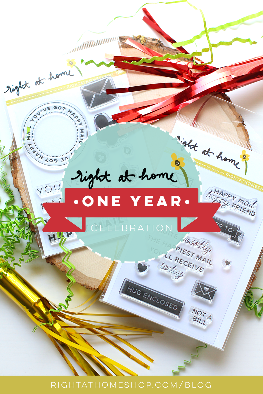 Right at Home Stamps One Year Celebration Blog Hop // rightathomeshop.com/blog