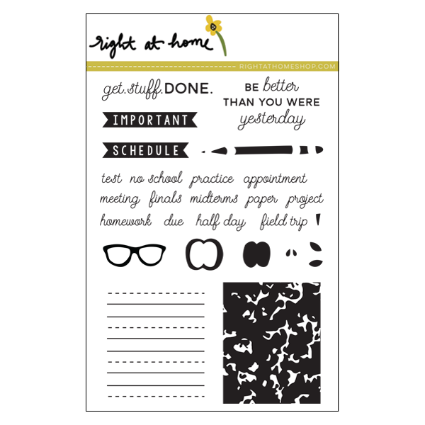 Right at Home Stamps // Back to School Planner
