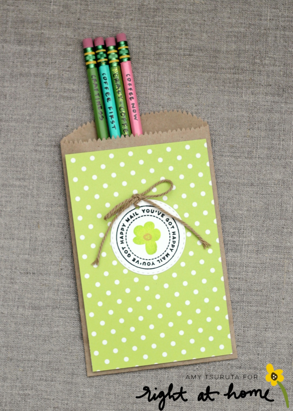 DIY Painted Pencils + Gift Bag // Back to School with Right at Home - rightathomeshop.com/blog