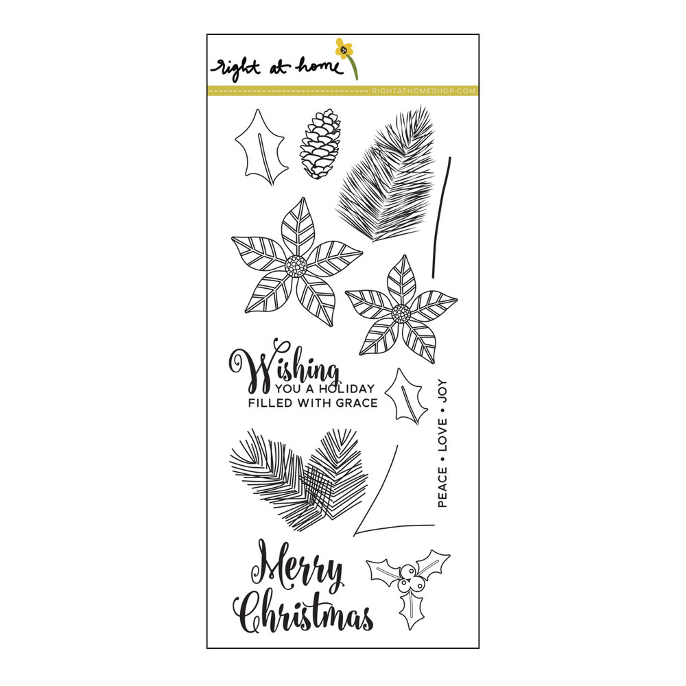 Right at Home Stamps // Christmas Foliage