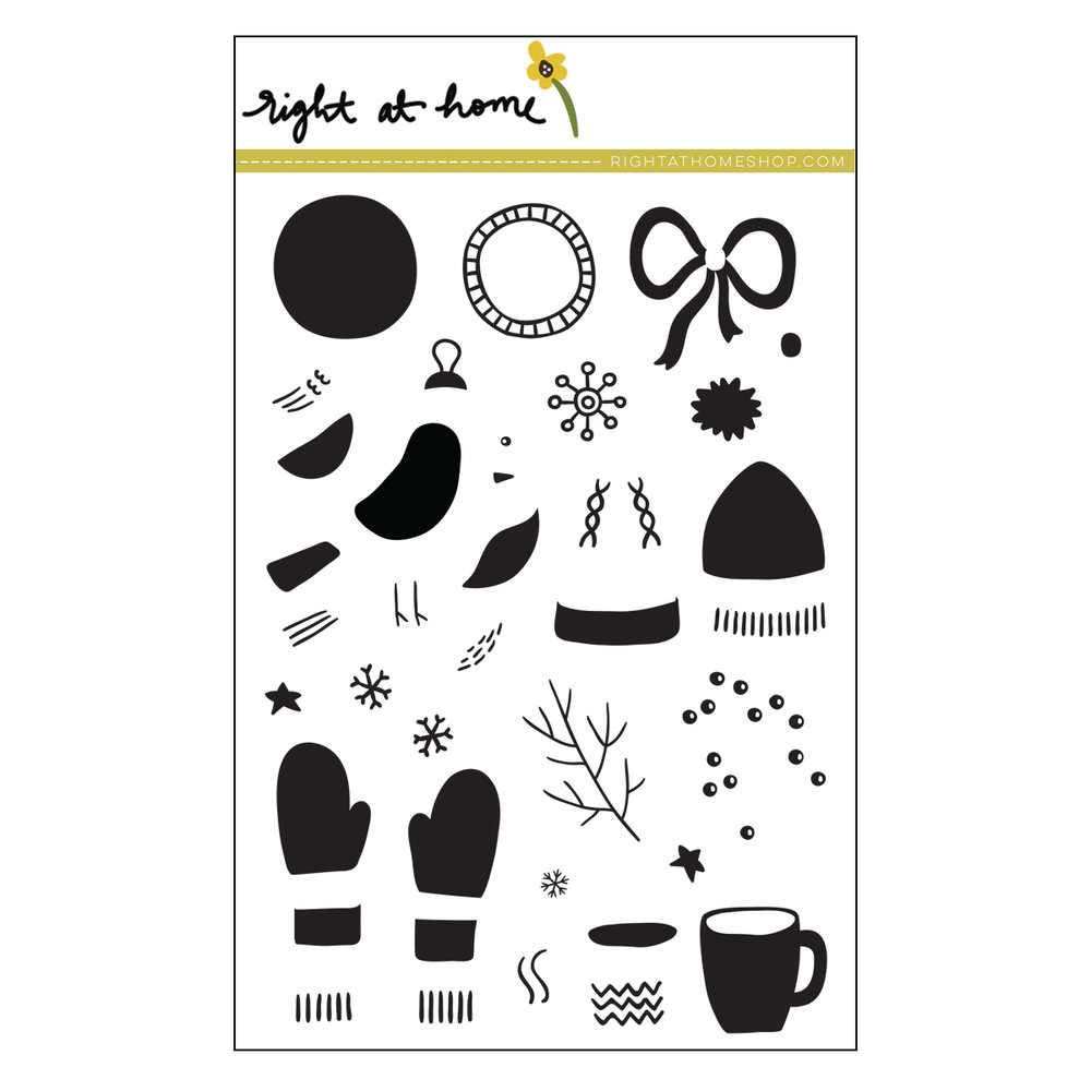 Right at Home Stamps // Bits & Pieces: Winter
