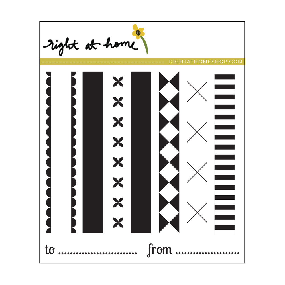 Right at Home Stamps // Holiday Ribbons