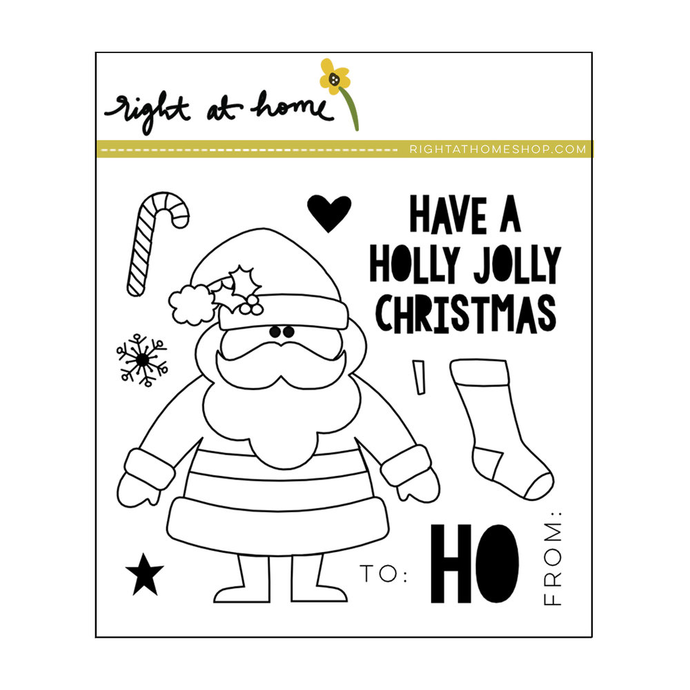 Right at Home Stamps // Holly Jolly Christmas