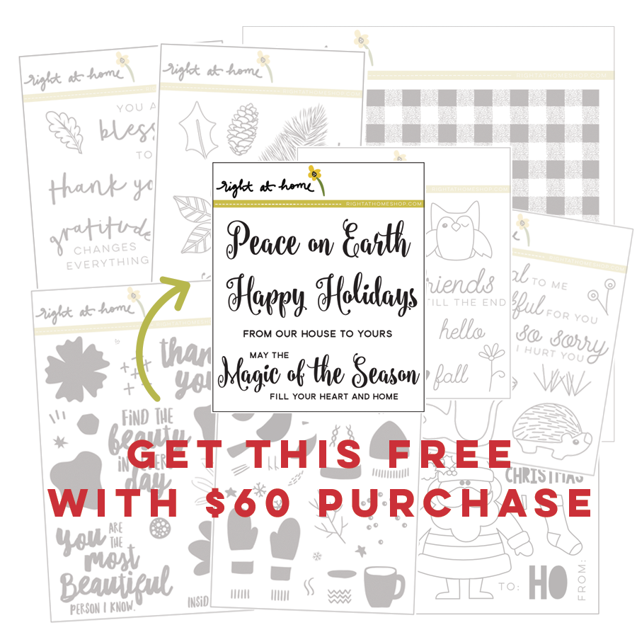 Right at Home Stamps // Get Magic of the Season FREE with $60 purchase!