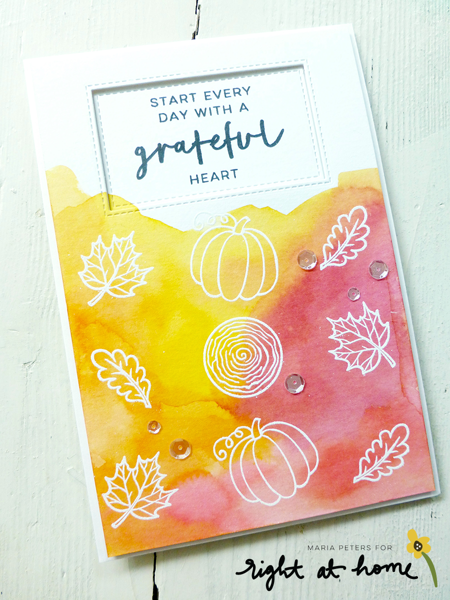 Grateful Heart Watercolor Cards by Maria // rightathomeshop.com/blog