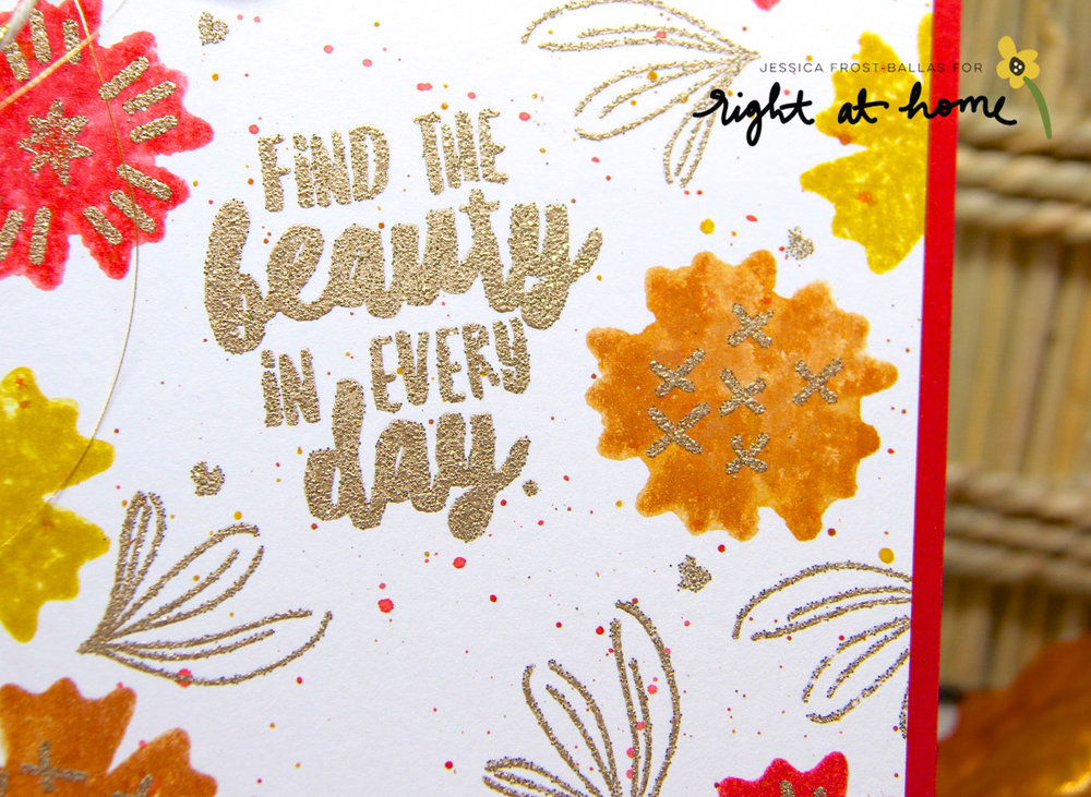 Find the Beauty Card by Jessica // Gold Heat-Embossing - rightathomeshop.com/blog