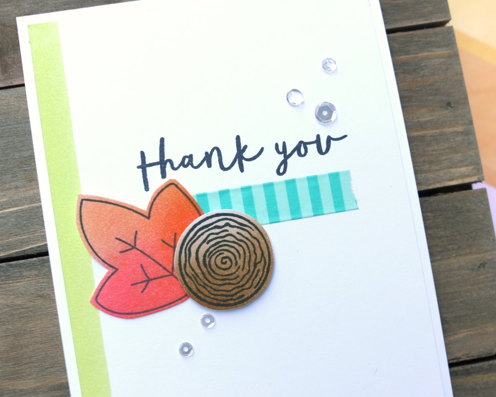 Thank You Card by Ashley // Distress Ink Blending - rightathomeshop.com/blog