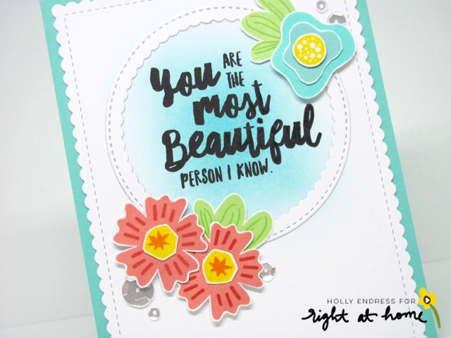 Beautiful Card by Holly // Find the Beauty - rightathomeshop.com/blog