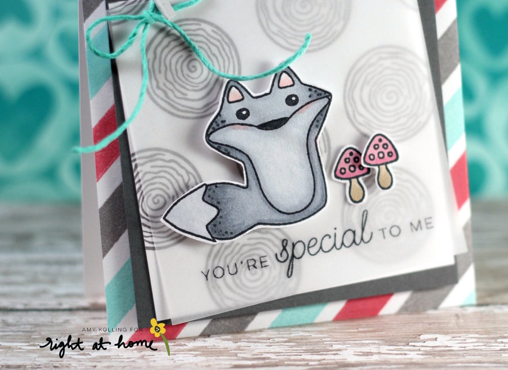 You're Special to Me Card by Amy // Stamped Backgrounds - rightathomeshop.com/blog