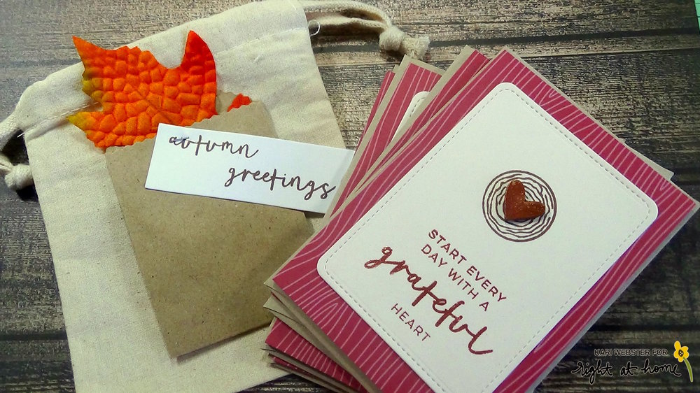 Hello Fall Happy Mail Swap Notecard Set by Kari // rightathomeshop.com/blog