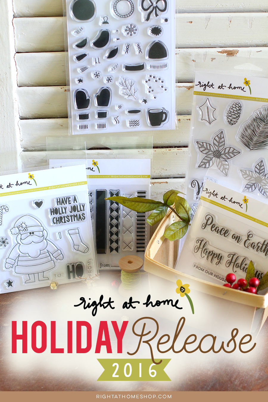 Right at Home Stamps Holiday Release Overview by KraftinKate // rightathomeshop.com/blog