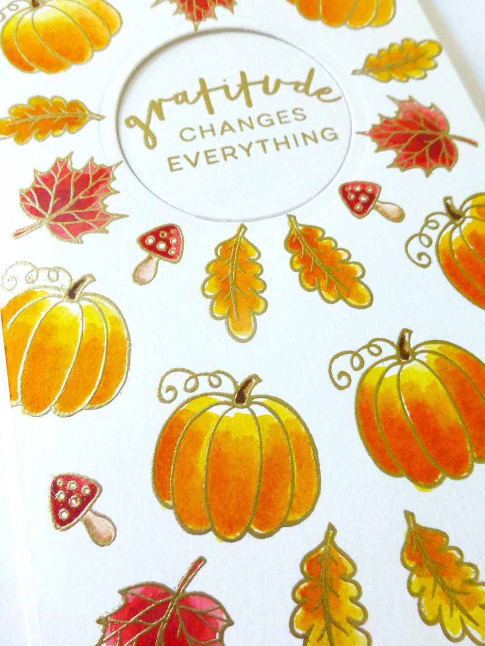 Hello Fall Happy Mail Swap Watercolor Packaging by Maria // rightathomeshop.com/blog