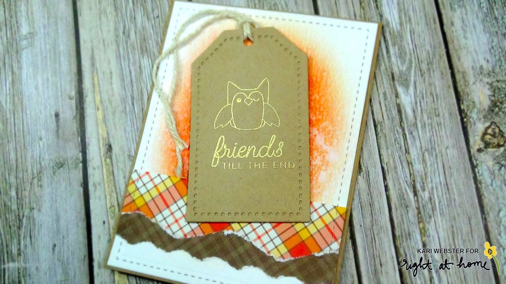 Deerest Friends Perfect Tears Card by Kari // Right at Home and Perfect Paper Crafting Collaboration - rightathomeshop.com/blog