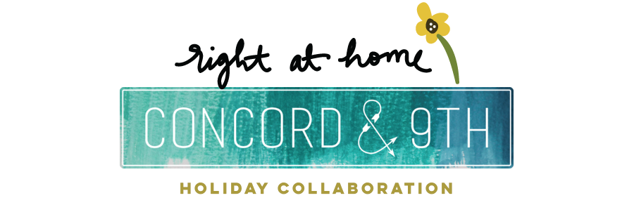 Right at Home + Concord & 9th Holiday Project Collaboration // rightathomeshop.com/blog
