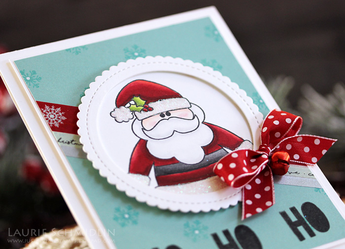 Ho Ho Ho Santa Card by Laurie S. // RAH Stamps Holly Jolly Christmas Feature Week - rightathomeshop.com/blog