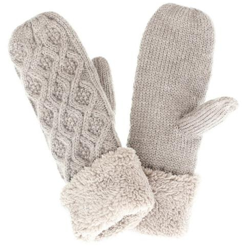 Cicily Cable Knit Mittens