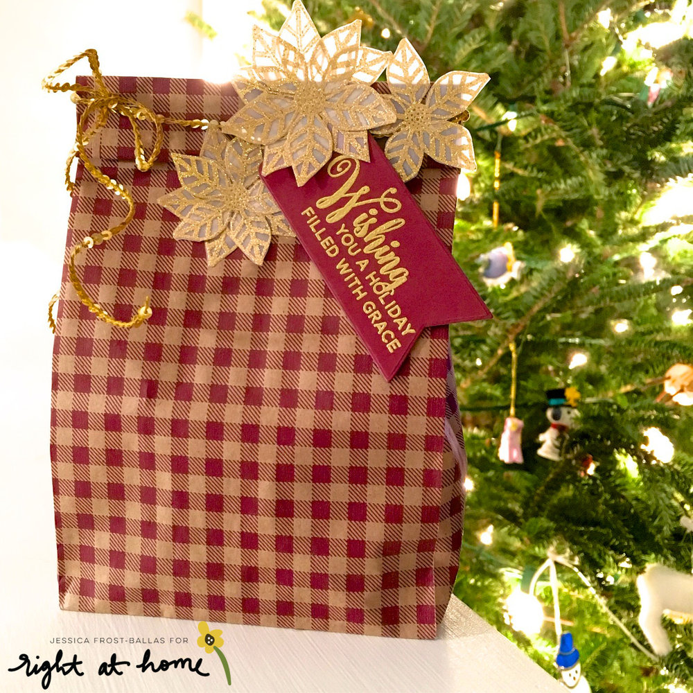 Homemade Holidays Day #1 with Jess // Gingham Bags - rightathomeshop.com/blog