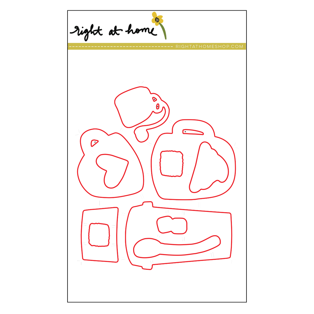 Right at Home Stamps // Cup of Joy Die Set