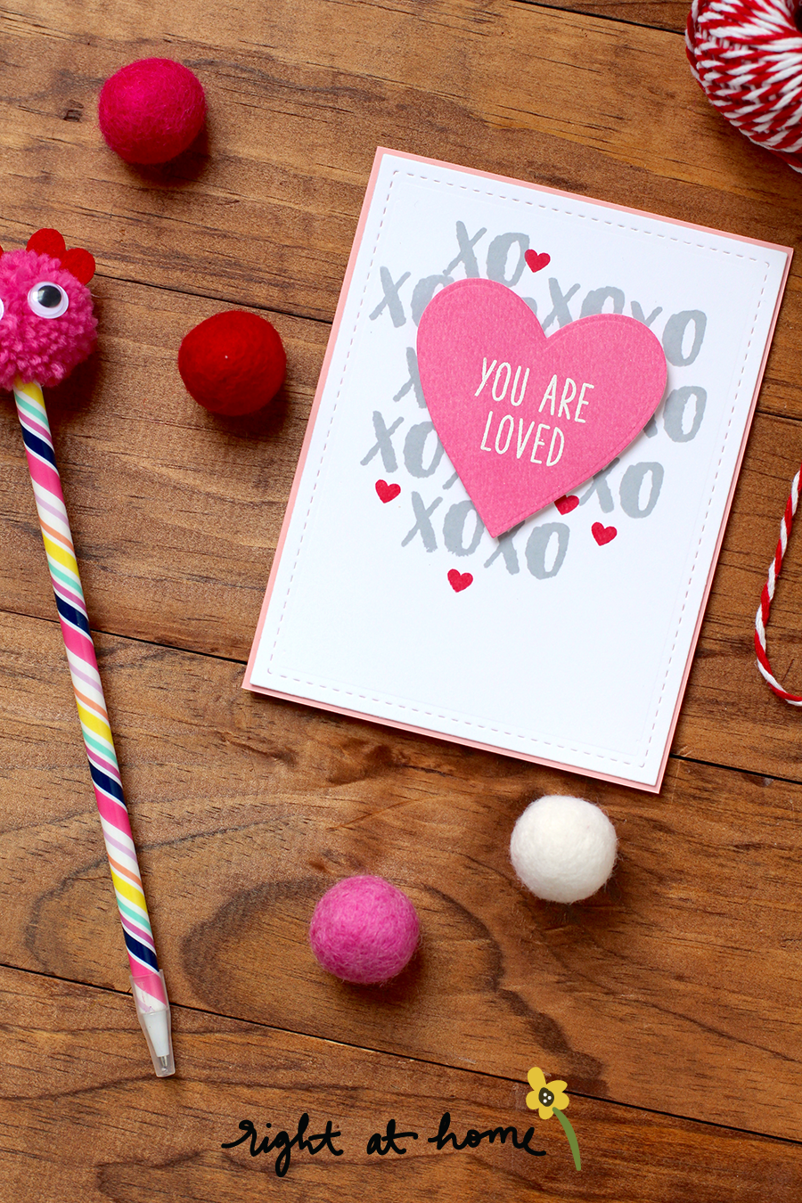 Quick Easy Valentine S Day Cards For Kids Rah Stamps Be Mine