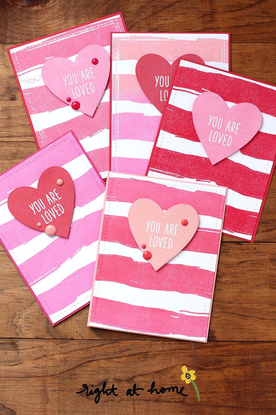 Quick & Easy Valentine's Day Cards for Kids // RAH Stamps Be Mine Release - rightathomeshop.com/blog
