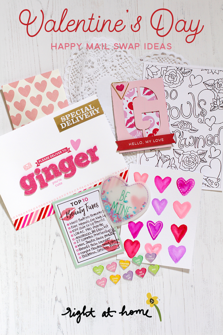 Valentine\'s Day Happy Mail Swap Content Ideas by Nicole — Right at Home