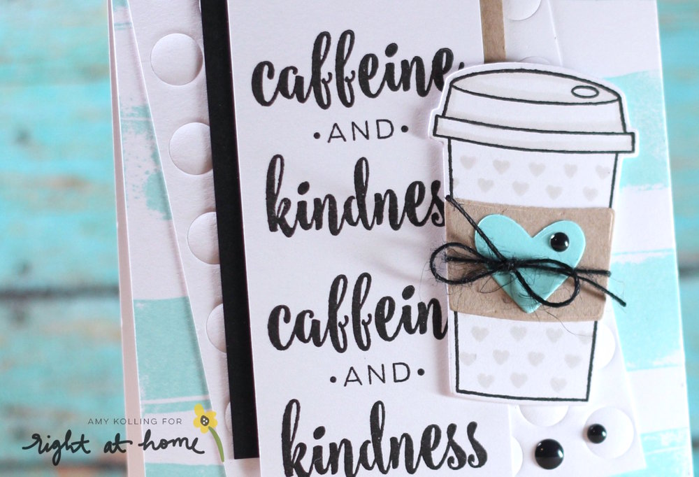 Caffeine & Kindness Card by Amy K. // Gilmore Girls Inspired Post Week - rightathomeshop.com/blog