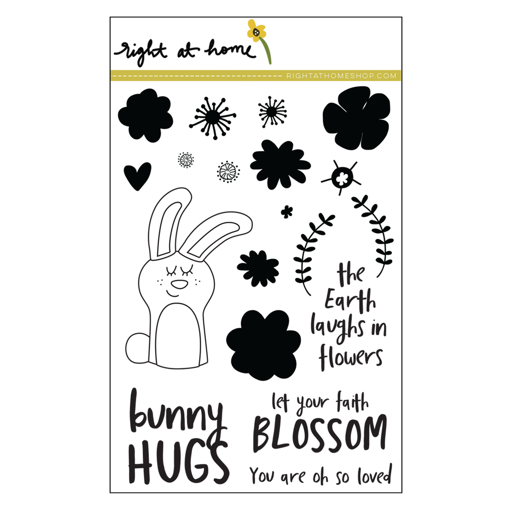 Right at Home Stamps // Bunny Hugs