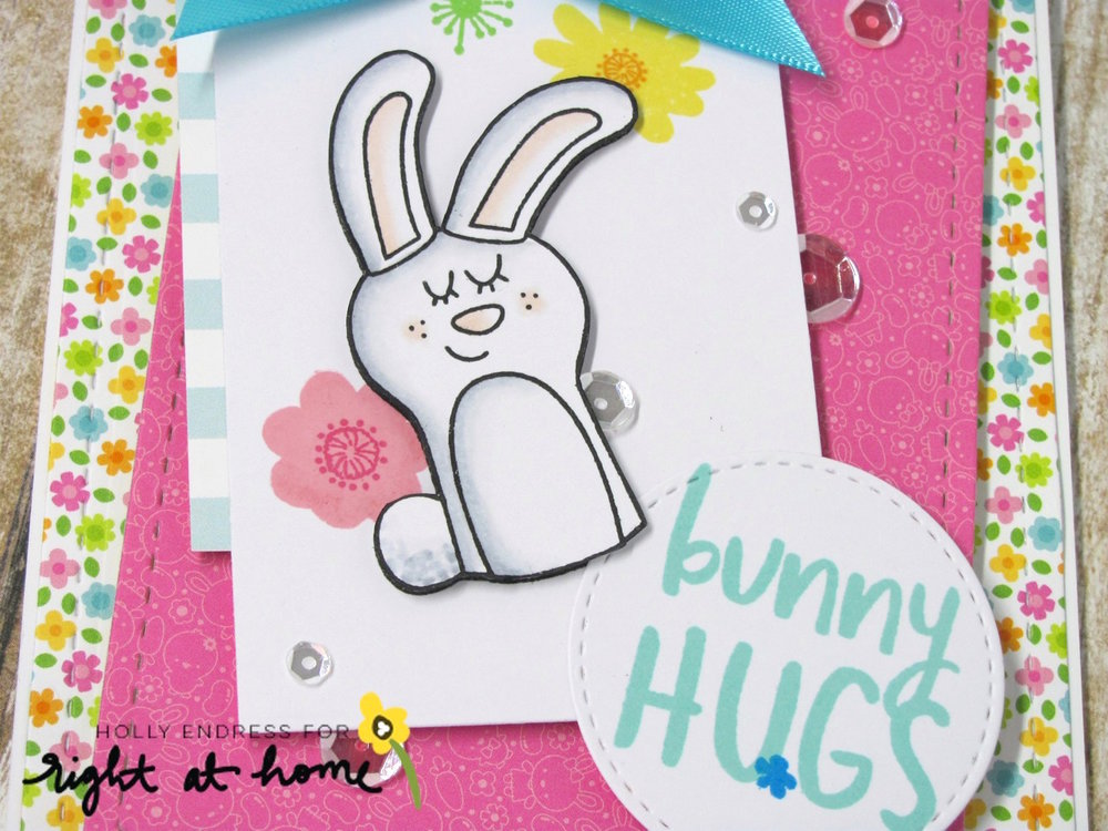Bunny Hugs Card by Holly // RAH Stamps March Release - rightathomeshop.com/blog