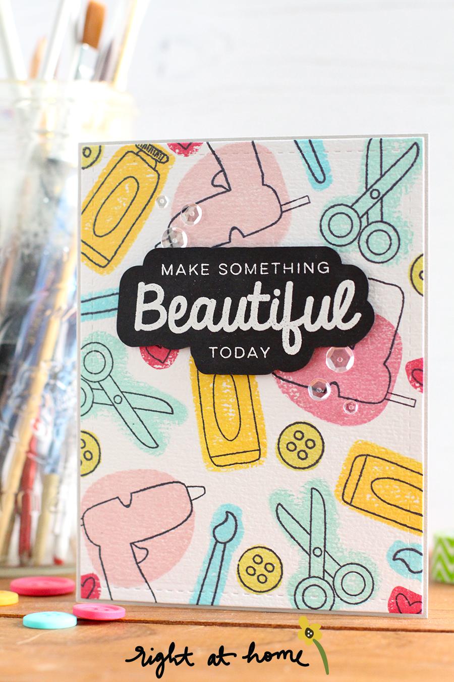 National Craft Month Celebration Blog Hop 2017 // Make Something Beautiful - rightathomeshop.com/blog