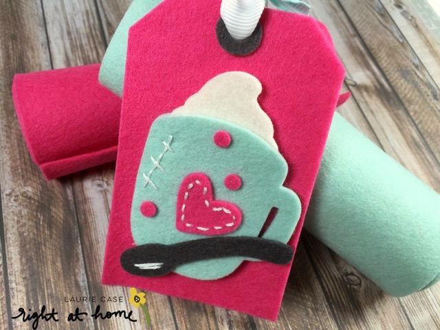 DIY Felt Bookmark + Tag by Laurie C. // Homeade with Love Day #2 - rightathomeshop.com/blog