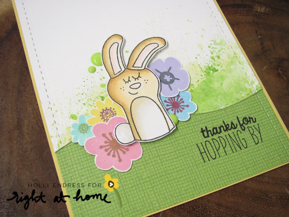 Thanks for Hopping By Card by Holly // rightathomeshop.com/blog
