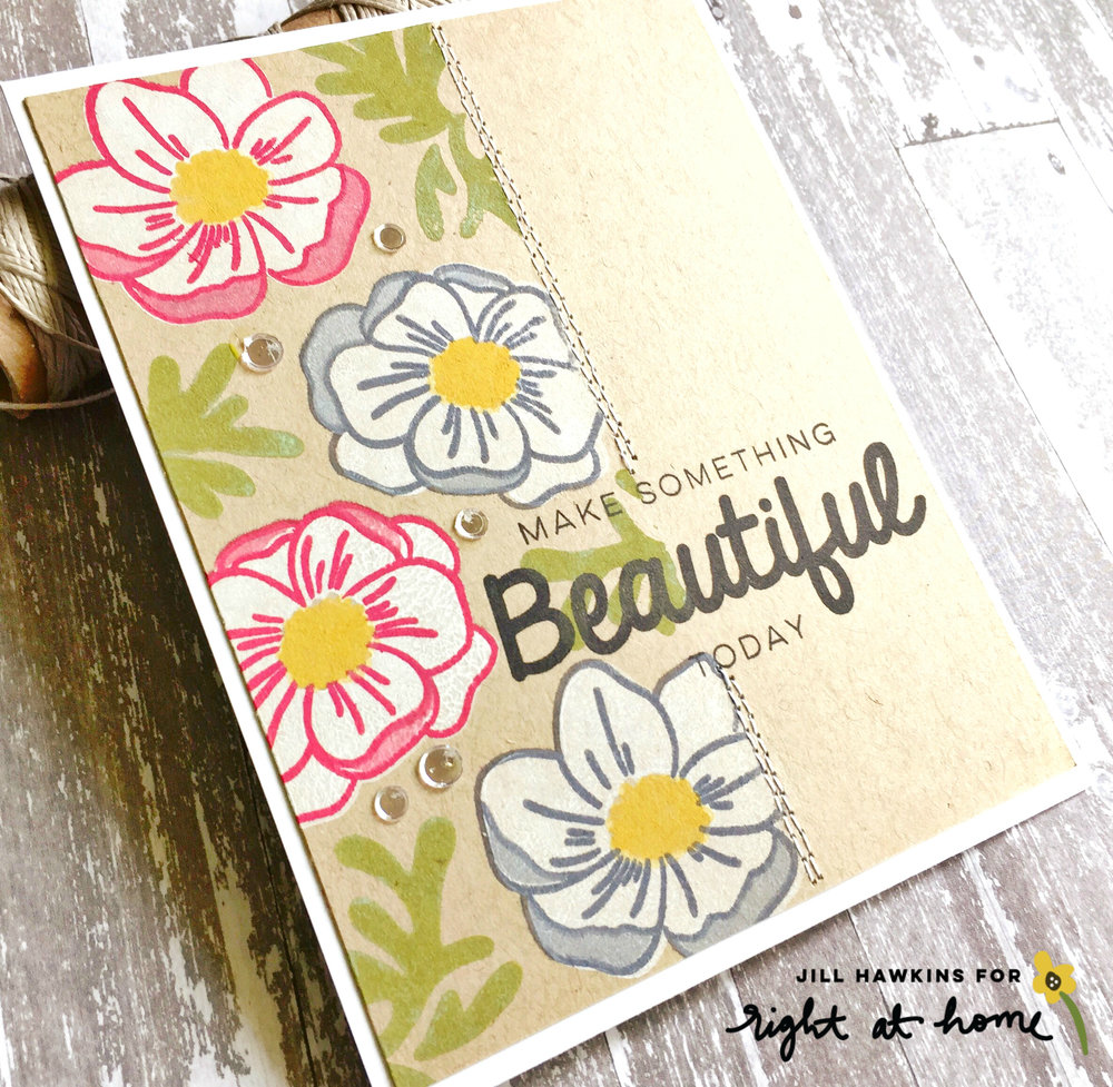 Watercolor & Pigment Ink Anemone Cards by Jill H. // rightathomeshop.com/blog