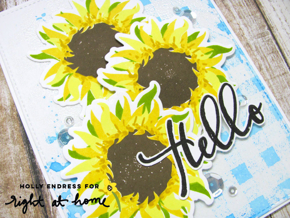 Hello Sunflower Brushstroke Alphabet Card by Holly // rightathomeshop.com/blog