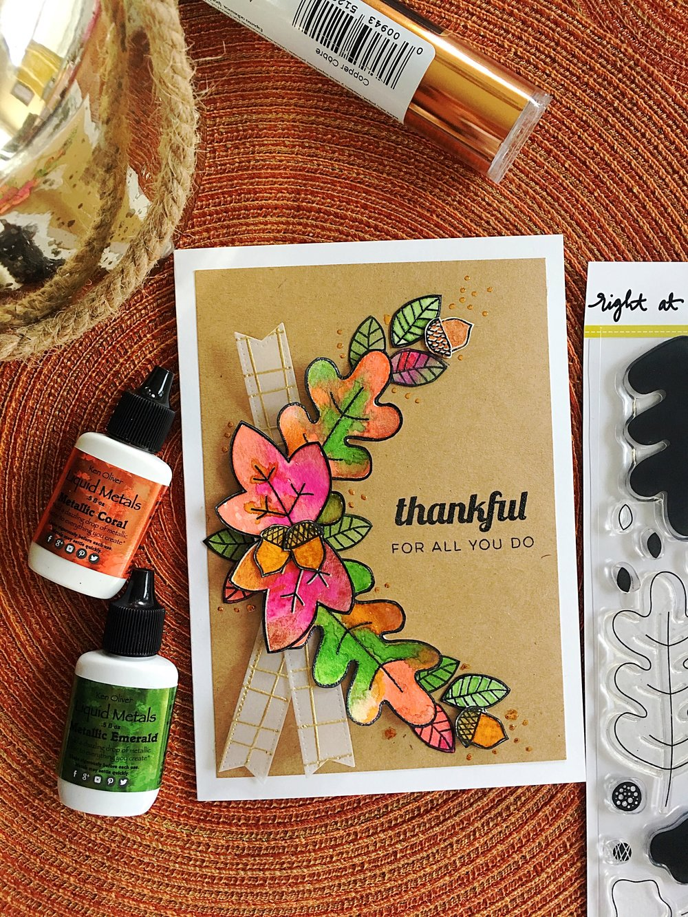 Thankful For All You Do Fall Leaves Card by Michelle M. // rightathomeshop.com/blog